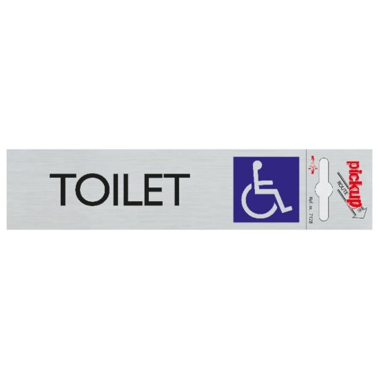 Pickup skilt handicaptoilet alu look 165x44 mm