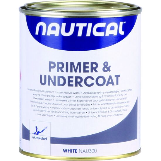 Nautical primer hvid 750 ml over vandlinjen