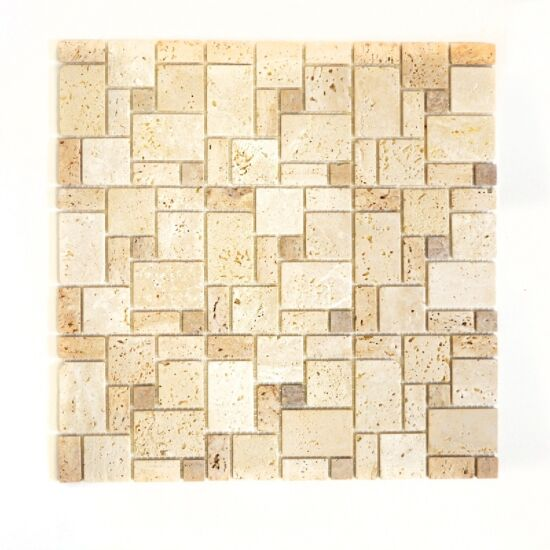 Mosaik Combination travertin beige mix 30,5x30,5 cm