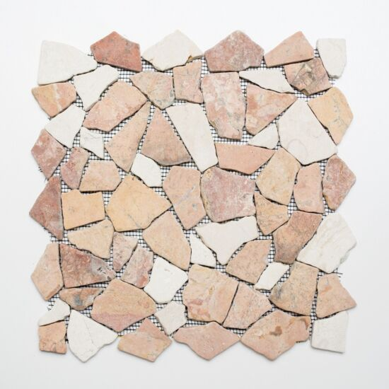 Mosaik Rossocream natursten sand mix 30,5 x 30,5 cm