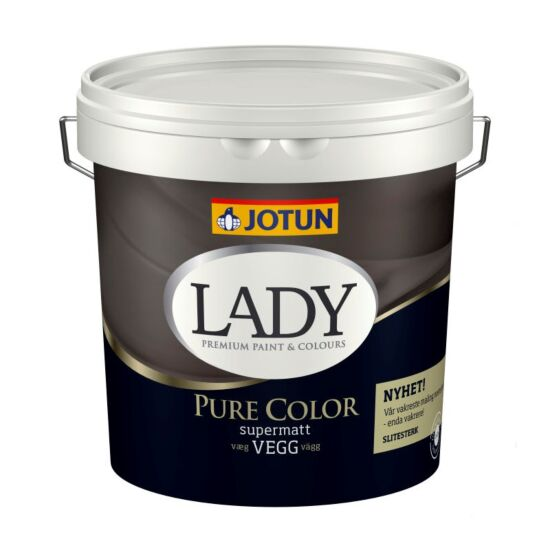 Jotun vægmaling Lady Pure Color hvid base 4,5 L