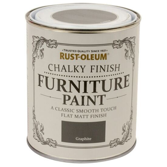Rust-Oleum møbelmaling Chalky Finish Graphite 750 ml