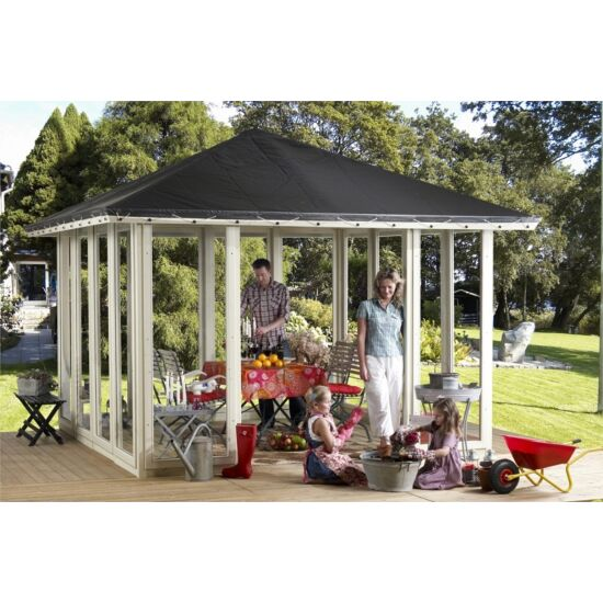 Plus pavillon model 3 med tagdug & ornament