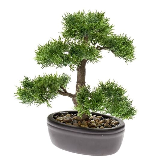 Emerald kunstigt bonsai cedertræ 35 cm