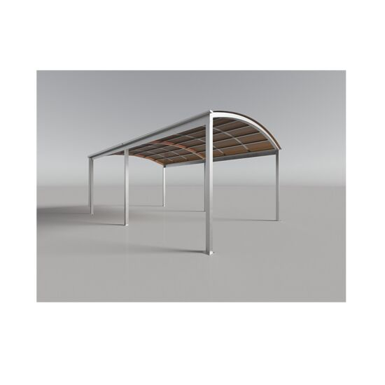 Genua carport Casa single bronze galv. stål 5,5x3,5x2,37 m