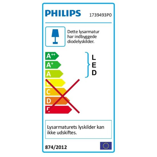 Philips LED væglampe Petronia antracit 12 W