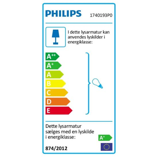 Philips Hue væglampe Lucca antracit E27 9,5 W
