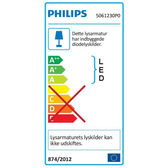 Philips LED spotlampe Rivano sort 2 spots