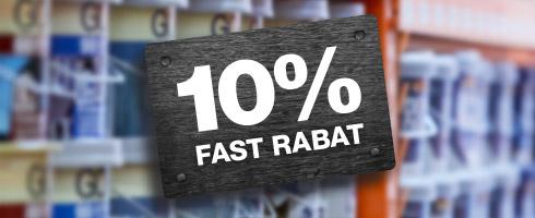 10% proff service rabat
